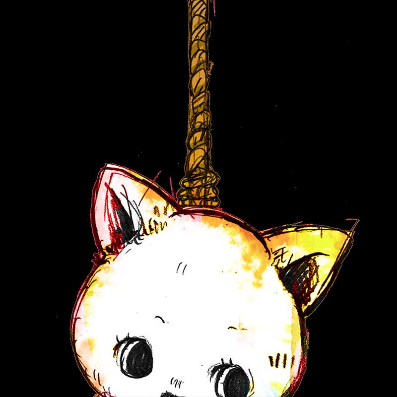 ビッグ首つりネコ