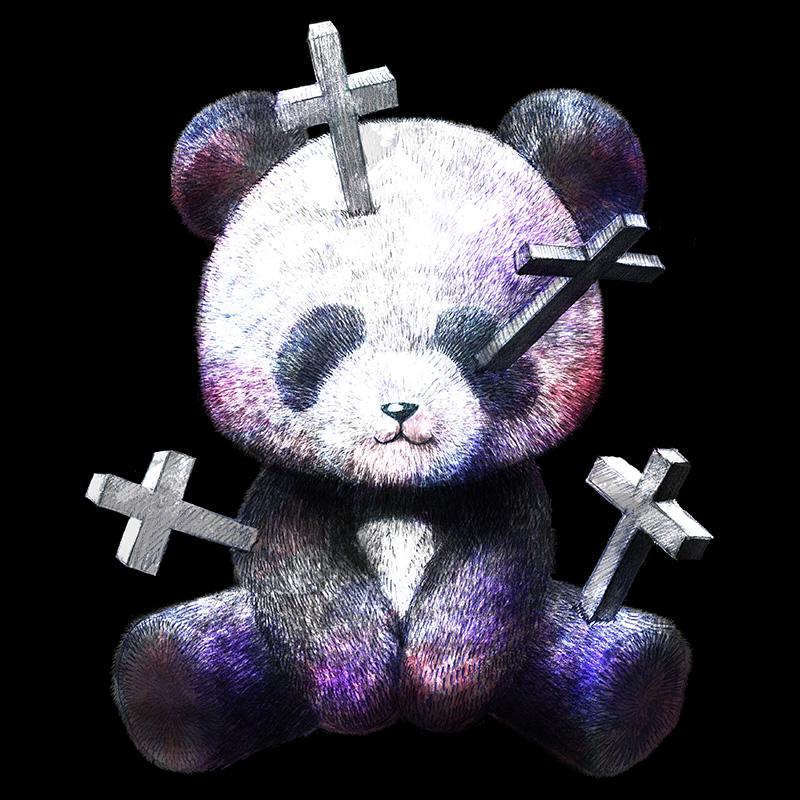 クロス刺さりパンダ