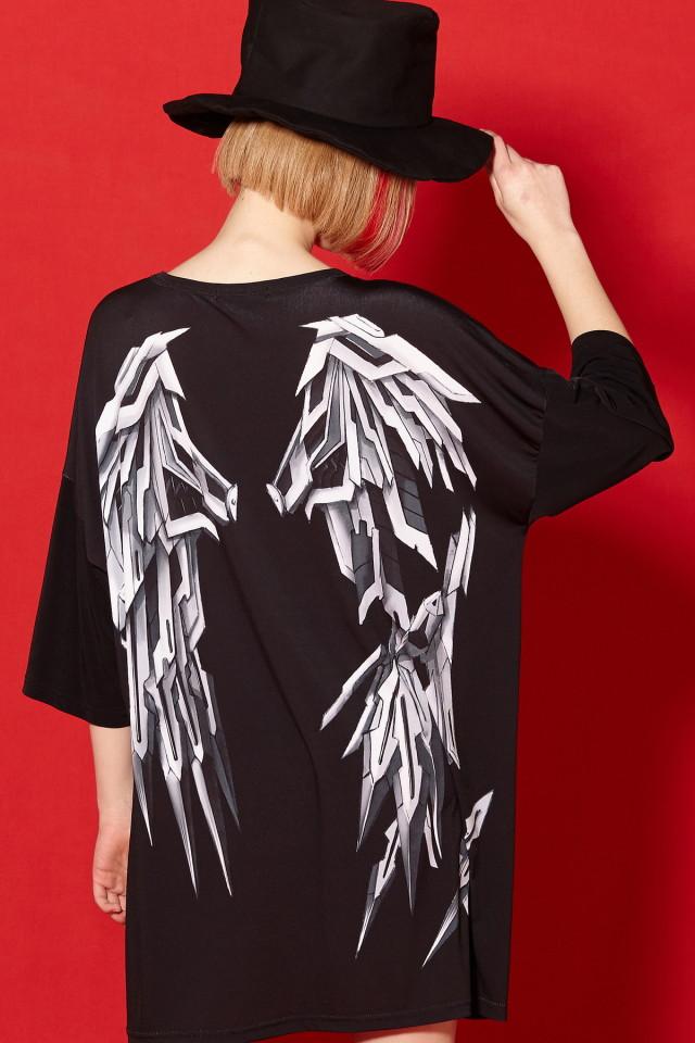 メカニック折れた翼Tシャツ -メガビッグ-