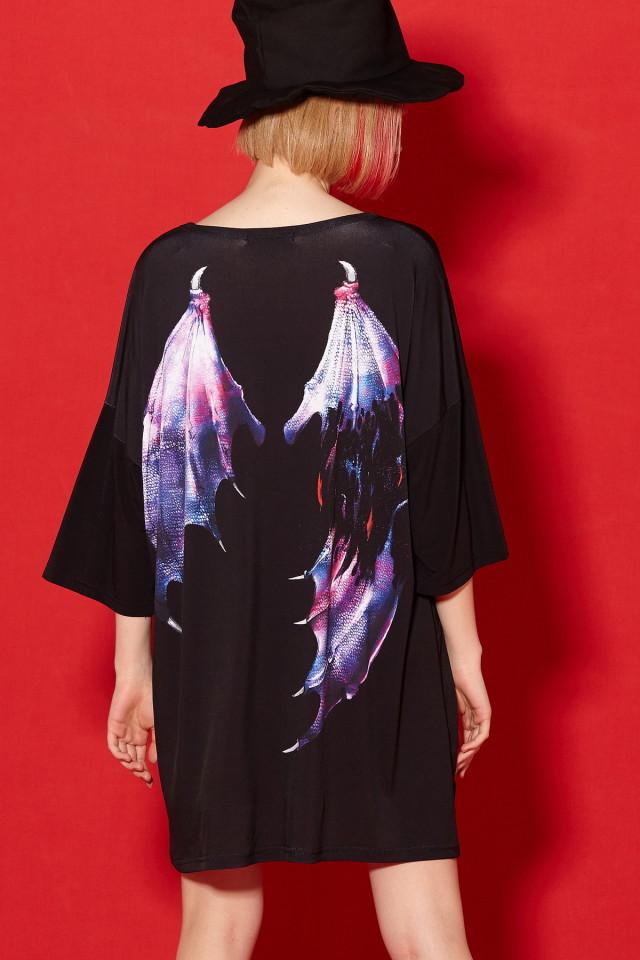 モンスターの折れた翼Tシャツ -メガビッグ-
