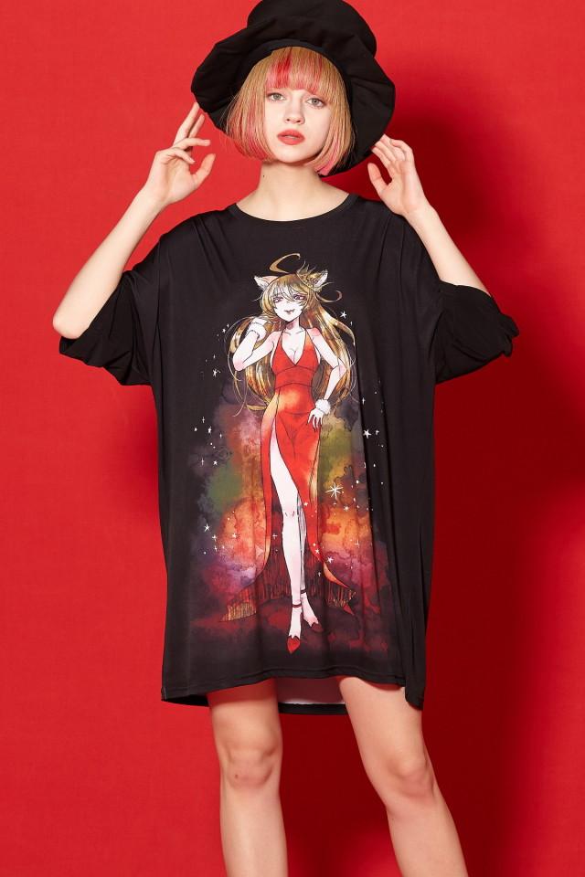 Re:ゾディアックガールズ『しし座ちゃん』Tシャツ -メガビッグ-