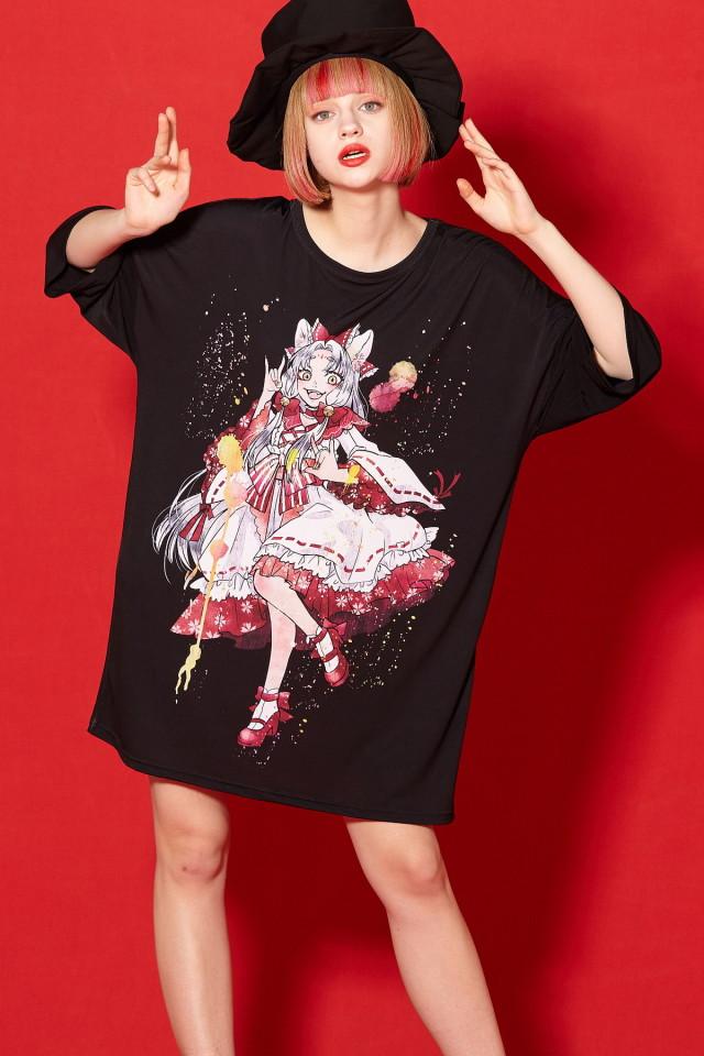アニマルトモダチ『九尾狐』Tシャツ -メガビッグ-