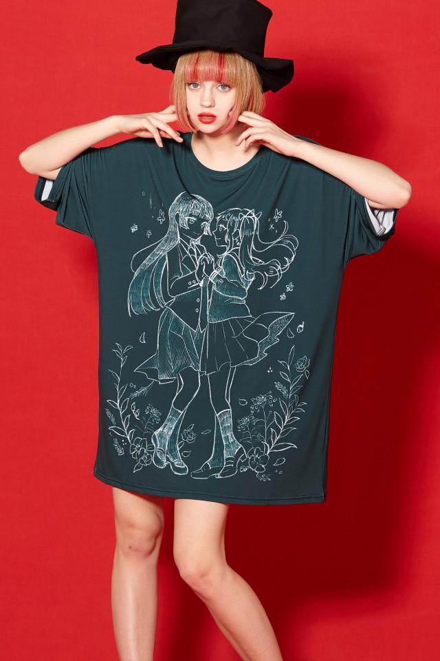 黒板アートcase2Tシャツ -メガビッグ-